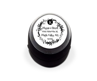Woodland Foliage Address Stamp