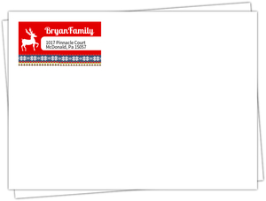 Red Ugly Sweater Custom Return Address Envelope