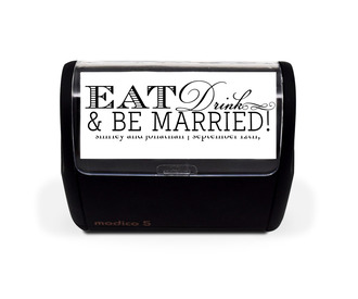 Eat Drink and Be Married Stamp