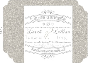 Glitter Wonderland Wedding Invitation