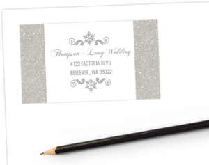 Glitter Wonderland Address Label