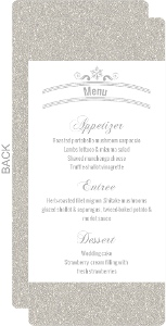 Glitter Wonderland Wedding Menu
