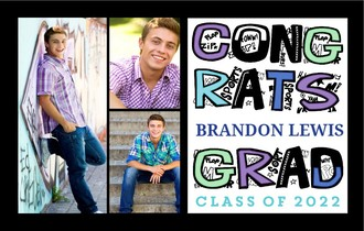 Fun Graffiti Graduation Photo Banner