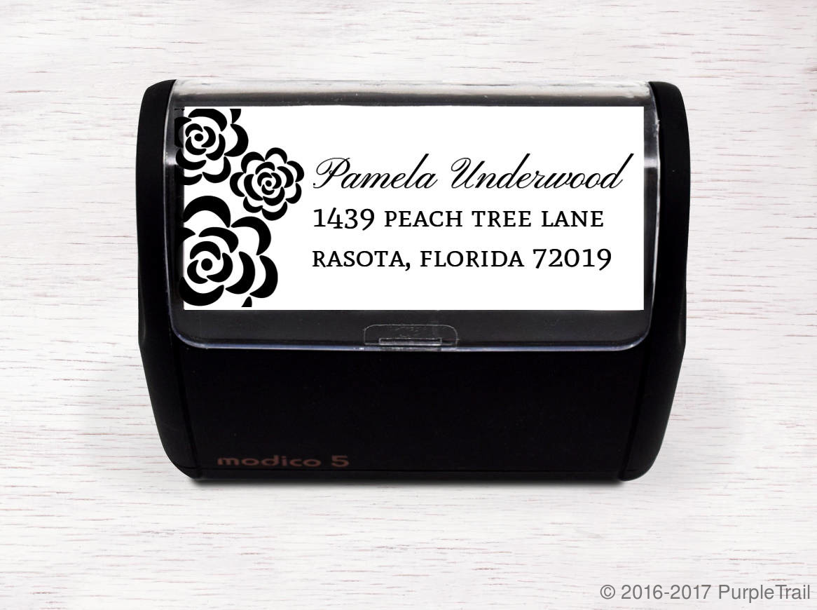 Floral Bunch Address Stamp