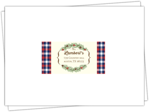 Flannel Holiday Party Custom Mailing Address