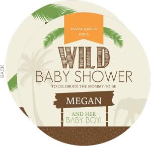 Boy Jungle Safari Baby Shower Invitation
