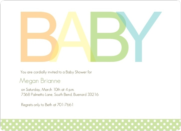 Simple Baby Boy Baby Shower Invite Boy Baby Shower Invitations