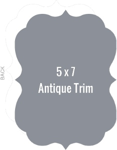 Create Your Own 5x7 Antique Die Card