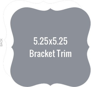 Create Your Own 5.25x5.25 Bracket Die Card
