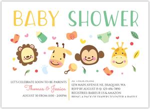 Brown Lion Boy Jungle Safari Couples Baby Shower