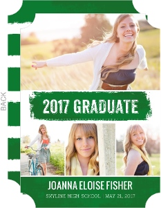 White Brushstroke Graduation Announcement