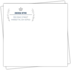 King Navy Blue Envelop Design