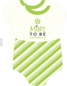 Green Mint to Be Baby Shower Onesie Invitation