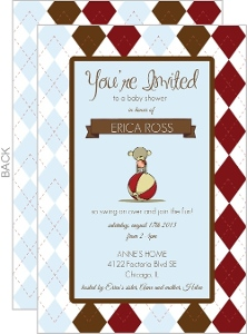 Sock Monkey Baby Shower Invitation