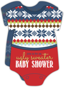 Ugly Onesie Sweater Baby Shower Invitation