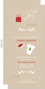 Bundle of Joy Christmas Baby Shower Invitation