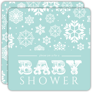 Soft Baby Color Snow Shower Invitation