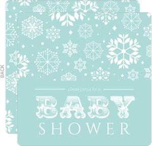 Baby Blue Snow Shower Invitation