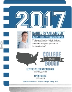 Bold Modern Foil Graduation Invitation