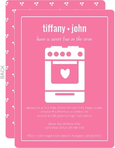 Bun In The Oven Girl Baby Shower Invite
