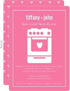 Bun In The Oven Girl Baby Shower Invite