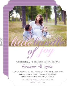 Baby Belly Girl Baby Shower Invitation
