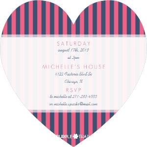 Pink navy nautical girls baby shower invitation 3108 2 big heart