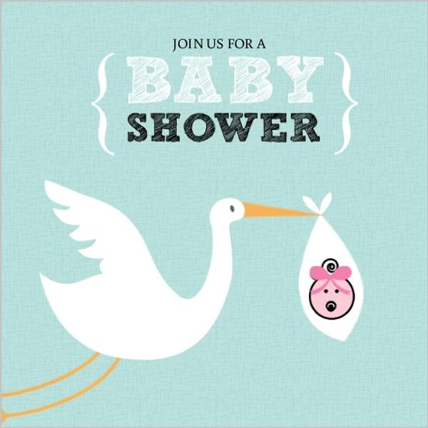 baby shower invitations girl baby shower invitations teal stork girl