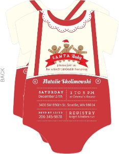 Cute Cookie Onesie Baby Shower Invitation