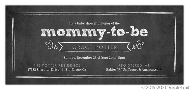 chalkboard baby shower invitation  gender neutral baby shower, Baby shower invitations
