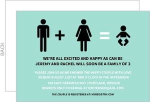 Man Woman And Baby Icon Gender Neutral Baby Shower Invite