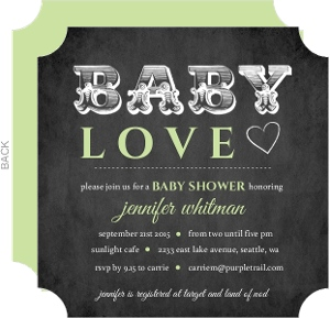 Chalkboard Baby Love Shower Invitation