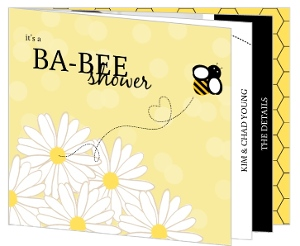 Booklet Bee Gender Neutral Baby Shower Invitation