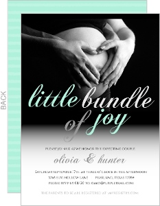 Baby Bump Photo Baby Gender Neutral Shower Invitation