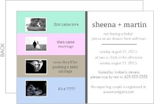 Sonogram Gender Neutral Baby Shower Invitation
