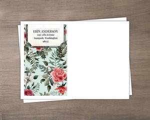 Vintage Rose Stationery Envelope