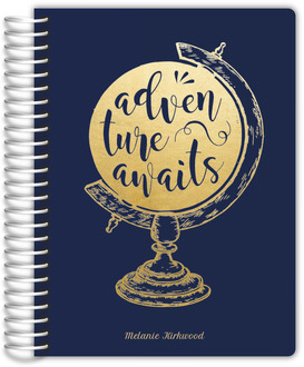 Faux Foil Adventure Globe Weekly Planner