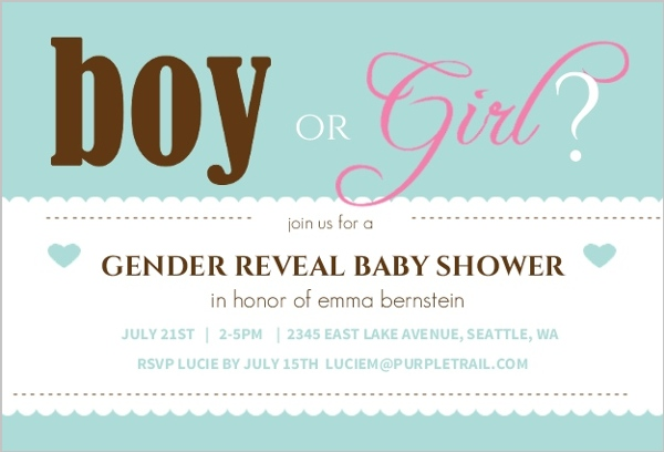 turquoise boy or girl baby shower invite | gender reveal invitations, Baby shower invitations