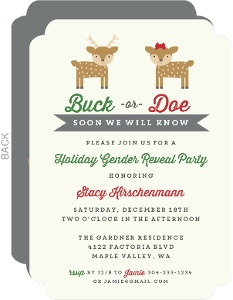 Buck or Doe Gender Neutral Baby Shower Invitation
