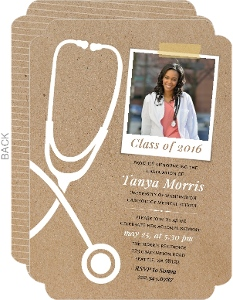 Unique Kraft Stethoscope Medical School Graduation Announcement