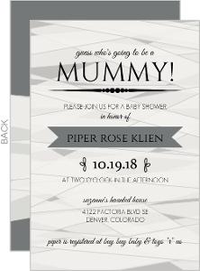 Mummy Baby Shower Set Halloween Party Invitation