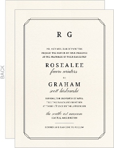 Beautiful Formal Double Frame Wedding Invitation
