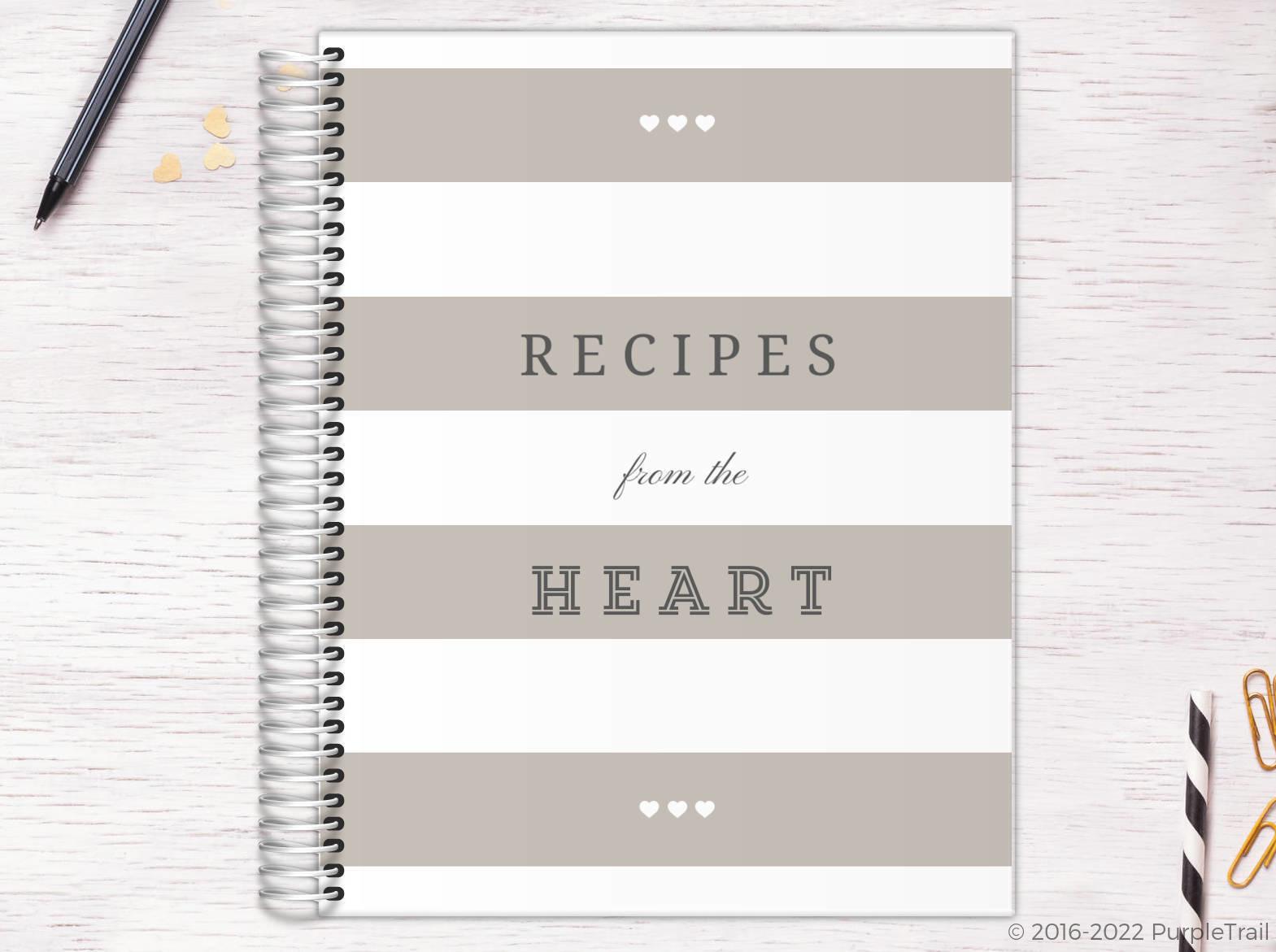 Modern Stripes Kitchen Custom Journal