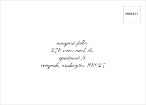 Beautiful Formal Double Frame Return Address Envelope