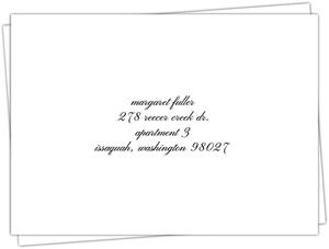 Beautiful Formal Double Frame Return Address Envelope