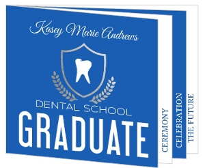 Bold Simplicity Dentist Graduation Invitation