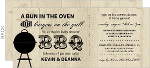 Rustic Black Babyq Couples Shower Invitation
