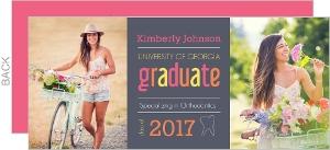 Gray and Pink Dental Graduation Invitation