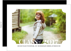 Classic Frame Medical School Graduation Announcement