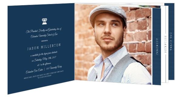 Modern Typography Law School Graduation Booklet Invitation Law